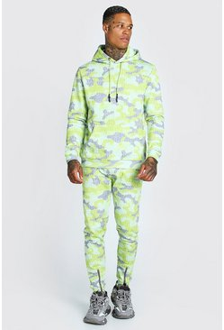 Yellow Man Official Camo Print Tracksuit