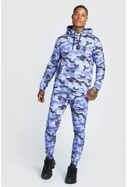 Purple Man Official Camo Print Tracksuit