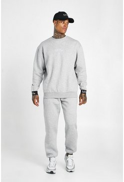 Grey marl Man Elasticated Cuff Sweater Tracksuit