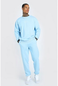 Light blue Man Elasticated Cuff Sweater Tracksuit