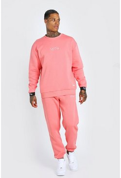 Coral Man Elasticated Cuff Sweater Tracksuit