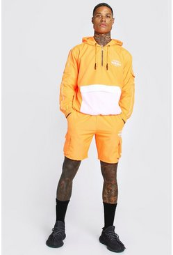 Orange Man Official Cargo Pocket Cagoule & Short Set