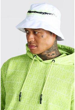White Man Printed Bucket Hat