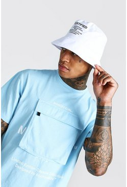 White Man Official Printed Bucket Hat