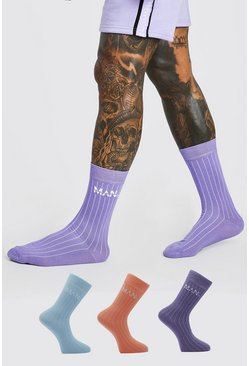 Multi 3 Pack Original Man Socks