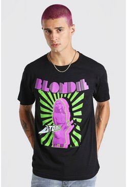 Black Blondie Atomic Print License T-Shirt