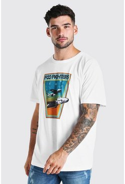 White Oversized Foo Fighters License T-Shirt