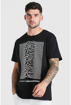T-shirt oversize Joy Division officiel, Noir