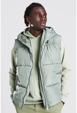 Mint Hooded Toggle Detail Gilet