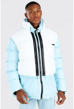 Light blue 2 In 1 Puffer (With Removable Gilet)
