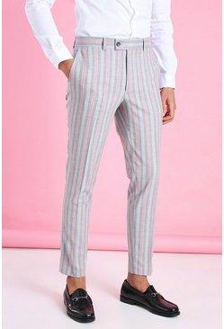 Pink Skinny Smart Neon Stripe Pants