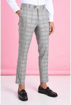 Black Skinny Smart Neon Check Pants