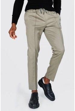 Ecru Skinny Formal Jogger