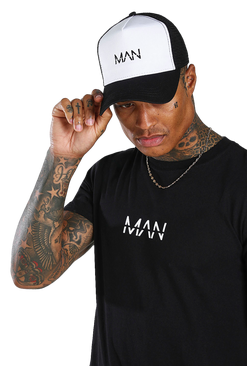 Black MAN Dash 2 Colour Trucker Cap