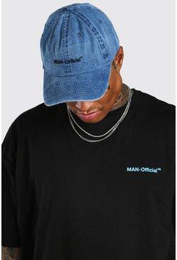 Blue MAN Official Washed Curve Peak Cap