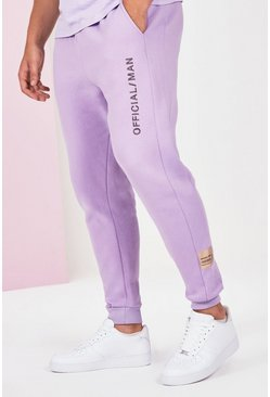 Lilac grey Big And Tall Official Man Jogger