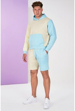 Stone Big And Tall Colour Block Tracksuit