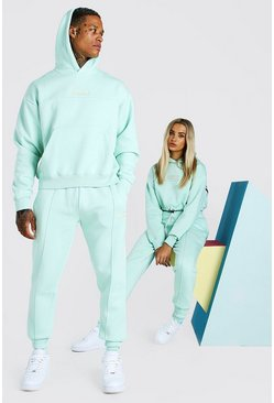 Mint ABODE His Cropped Tracksuit With Woven Tab