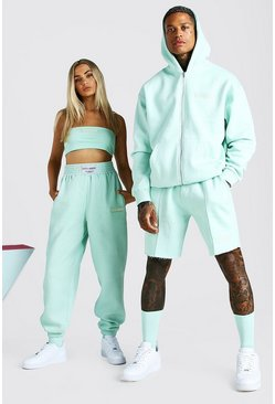 Mint ABODE His Zip Through Hooded Short Tracksuit