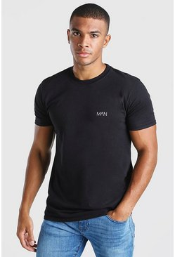 Black Original MAN Chest Print T-Shirt