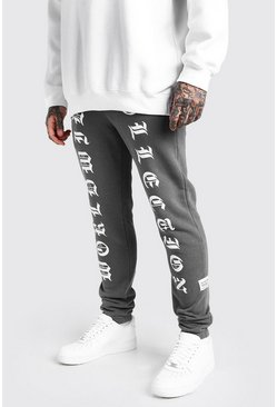 Charcoal MAN Worldwide Print Skinny Fit Jogger