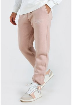 Pale pink Official MAN Regular Fit Jogger With Leg Print
