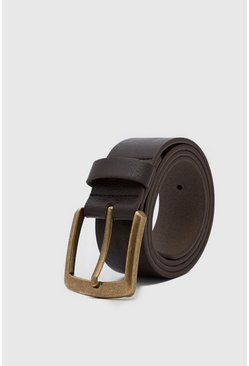 Brown Casual Faux Leather Jeans Belt