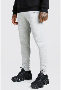 Grey MAN Signature Skinny Fit Joggers