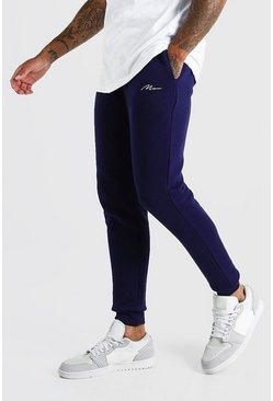 Navy MAN Signature Skinny Fit Joggers