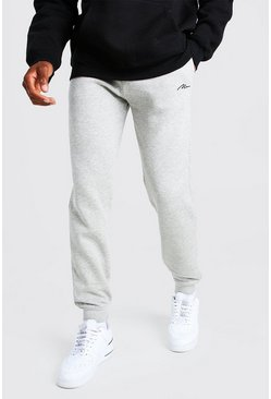 MAN-Signature Jogginghose in Slim-Fit, Grau