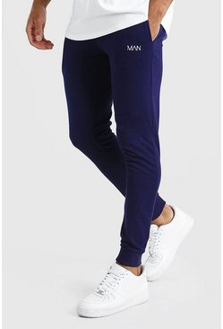 Original MAN Super Skinny Jogginghose, Marineblau