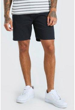 Navy Skinny Fit Chino Short