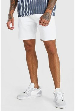White Skinny Fit Chino Short