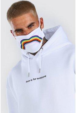 White Rainbow Fashion Mask