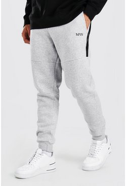 Grey marl Original MAN Skinny Panelled Jogger