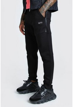 Black Original MAN Skinny Panelled Jogger