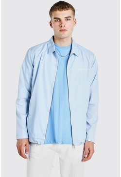 Blue MAN Official Zip Through Coach Jacket