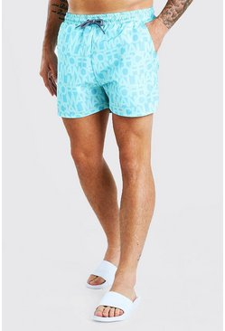 Blue MAN Official Mid Length Swim Shorts