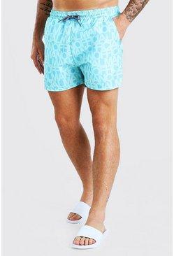 Blue MAN Official Mid Length Swim Shorts