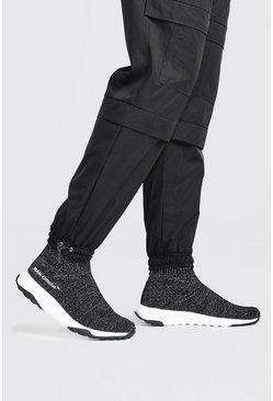 Black Man Reflective Knit Sock Trainer