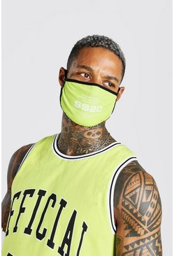 Lime Man Official SS20 Printed Fashion Mask