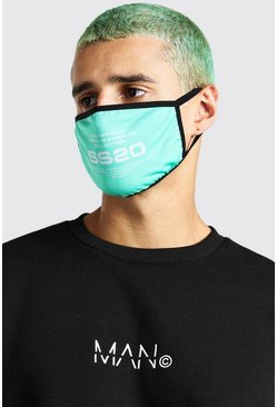 Green Man Official SS20 Printed Fashion Mask