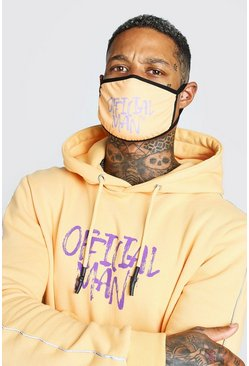 Orange Official Man Graffiti Print Fashion Mask