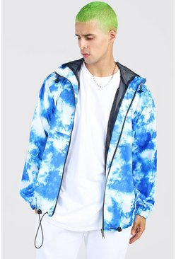 Blue Printed Overhead Cagoule
