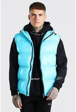 Aqua High Shine 4 Pocket Wet Look Gilet