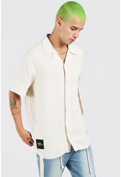 Stone MAN Tab Oversized Revere Collar Shirt