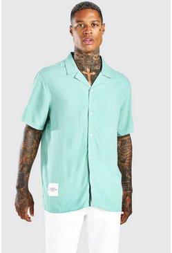 Sage MAN Tab Oversized Revere Collar Shirt