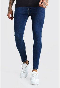 Dark blue Spray On Skinny Jeans