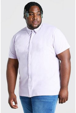 Lilac Big And Tall Basic Short Sleeve Jersey Shirt