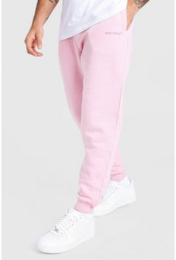 Pale pink MAN Official Loose Fit Marl Jogger